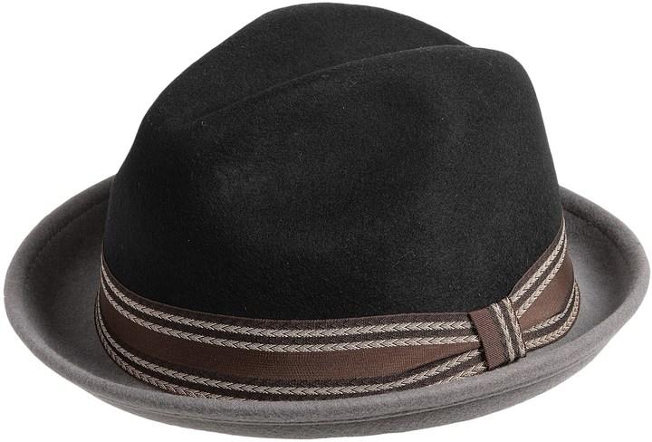 511cf18a03ce9 ... Sinatra Two Tone Wool Felt Fedora Hat ...