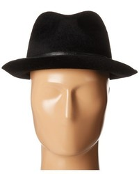 John Varvatos Star Usa Long Hair Wool Felt Fedora Hats
