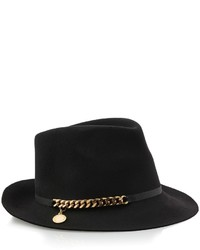 Stella McCartney Felt Chain Trilby Hat