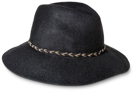 91a186a7bb4cd ... Mossimo Supply Co Fedora Hat With Braided Sash And Wide Brim Black  Supply Co ...