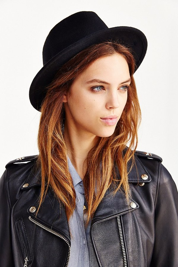 3376079f51bb9 ... Black Wool Hats Urban Outfitters Ecote Felt Slouch Fedora ...