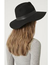 ... Topshop Wide Brim Pu Fedora Hat a1d9fd9fa12