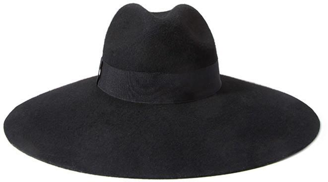 Wide Brim Wool Fedora. Black Wool Hat by Forever 21 2f3006432b5