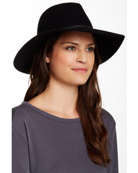 Phenix Wide Brim Wool Genuine Leather Fedora