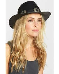 The Kooples Wool Leather Hat