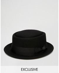 Reclaimed Vintage Wool Pork Pie Hat