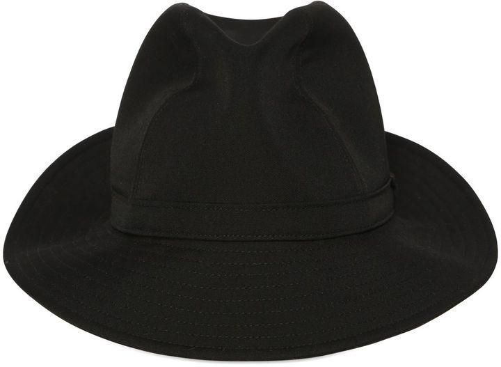 8fd1d6d4db7 ... Black Wool Hats Yohji Yamamoto Wool Fedora Hat ...