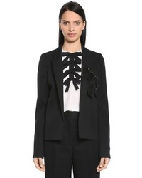 Rochas Cool Wool Jacket W Sequined Bow
