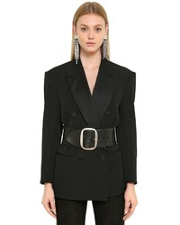 Isabel Marant Double Breasted Wool Tuxedo Jacket
