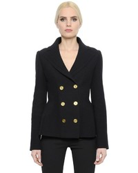 Alexander McQueen Double Wool Cashmere Knit Jacket