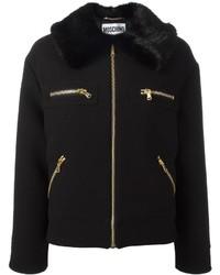 Moschino Faux Fur Collar Jacket