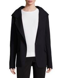 DKNY Hooded Notched Lapel Jacket