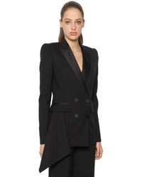 Alexander McQueen Light Wool Silk Blend Tuxedo Jacket