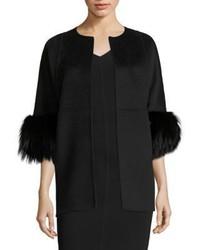 Michael Kors Michl Kors Collection Fox Fur Wool Jacket