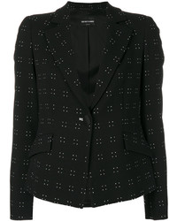 Emporio Armani Patterned Fitted Jacket