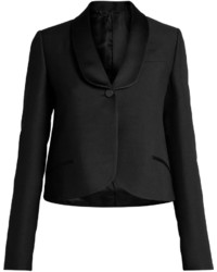 Valentino Single Breasted Wool And Silk Blend Jacket