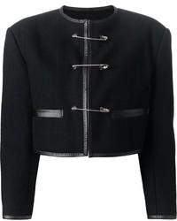 Vintage safety pin fastening jacket medium 1360902