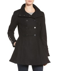Calvin Klein Wool Blend Fit Flare Jacket