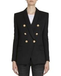Balmain Wool Double Breasted Jacket