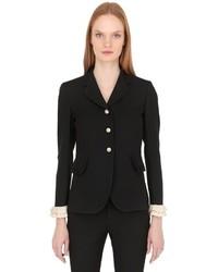 Gucci Wool Silk Crepe Jacket