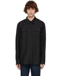 Acne Studios Black Wool Blend Shirt