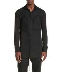 Rick Owens Camica Wool Office Shirt