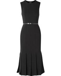 Akris Fluted Wool Blend Dress