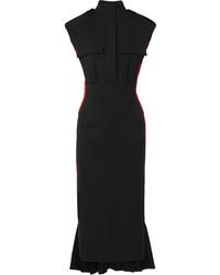 Alexander McQueen Med Wool Blend Crepe Dress