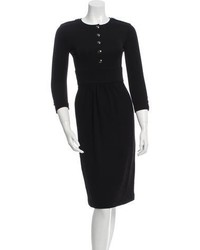 Burberry Wool Accented Midi Dress W Tags