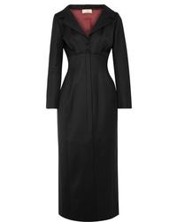 Sara Battaglia Wool Blend Midi Dress
