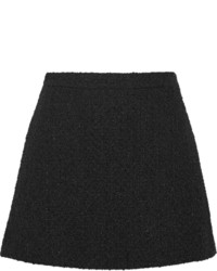 Black Wool Mini Skirt