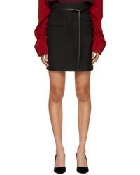 Haider Ackermann Black Wool Miniskirt