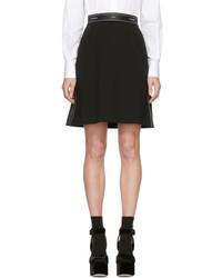 Dolce & Gabbana Dolce And Gabbana Black Logo Ribbon Miniskirt