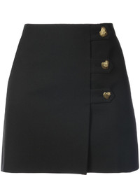 Saint Laurent Heart Button Mini Skirt