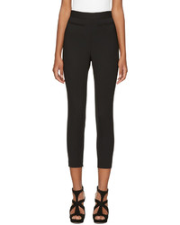 Alexander McQueen Black High Rise Slim Trousers
