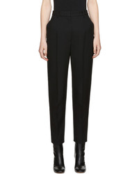 Alexander McQueen Black High Rise Trousers