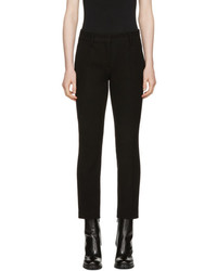 Prada Black Slim Wool Cropped Trousers