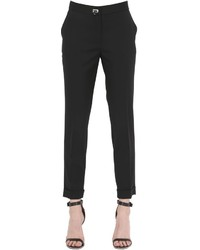 Salvatore Ferragamo Stretch Wool Pants With Flip Lock