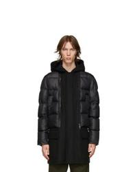 Neil Barrett Black Puffer Hybrid Coat
