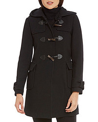 Kate Spade New York A Line Detachable Hood Wool Parka