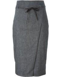 Brunello Cucinelli Belted Pencil Skirt