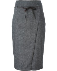 Brunello Cucinelli Belted Pencil Skirt