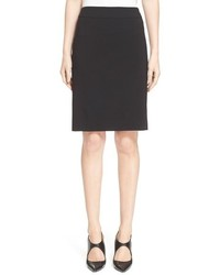 Armani Collezioni Featherweight Wool Pencil Skirt