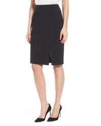 BOSS Volania Stretch Wool Pencil Skirt