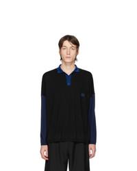 Loewe Black And Blue Wool Ov Polo Sweater