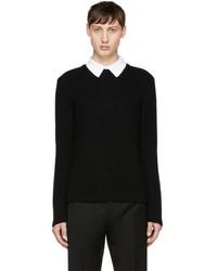 Valentino Black Polo Collar Sweater
