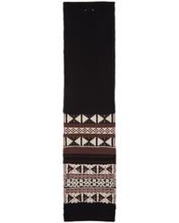 Maison Margiela Black Patterned Wool Scarf
