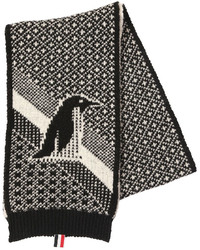 Thom Browne Penguin Mohair Wool Jacquard Scarf