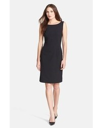 Black Wool Sheath Dress