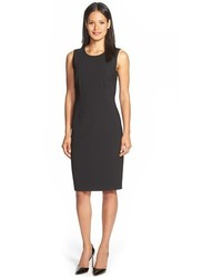 BOSS Dirusa Sleeveless Stretch Wool Sheath Dress